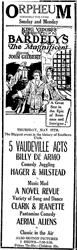 Ad for the Orpheum Theatre, formerly the Lyric. - , Utah