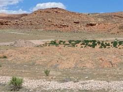 Mounds of dirt cover the former rows of parking. - , Utah