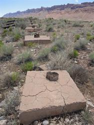 Concrete foundations for the screen tower. - , Utah