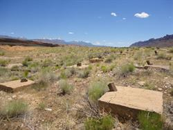 Looking south across the screen tower foundations. - , Utah