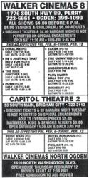 'Open house Thursday February 12.  Movies start at 7:30 PM!  Free admission to all movies.' - , Utah