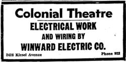 """Colonial Theatre electrical work and wiring by Winward Electric Co."" - , Utah"
