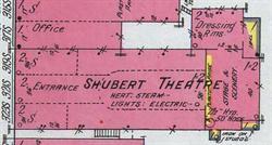 The Shubert Theatre in an 1911 Sanborn fire insurance map. - , Utah