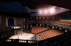 A side view of the stage and balcony. - , Utah
