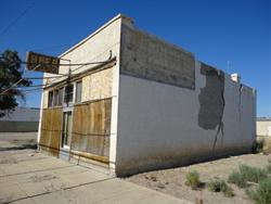 The west and south exterior walls of the building south of the Arbon Cafe. - , Utah