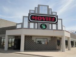 The entrance of the Movies 5, in the southwest corner of the building. - , Utah