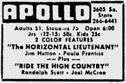 'The Horizontal Lieutenant' and 'Ride the High Country' at the Apollo in February 1963. - , Utah