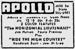 The last advertisement for the Apollo Theatre in the Deseret News. - , Utah