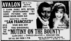 'Mutiny on the Bounty' and 'San Francisco', held over for a second week - , Utah