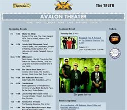 The web page for the Avalon Theater, www.theavalontheater.com, before the theater was sold the Children's Theatre. - , Utah