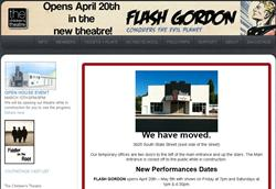 The main page of tctheatre.org announces the completion of the move from 237 State Street to the former Avalon Theatre. - , Utah