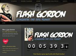A countdown timer on tctheatre.org for <span style='font-style: italic;'>Flash Gordon Conquers the Evil Planet</span>, the opening production for the Children's Theatre in the Avalon building. - , Utah