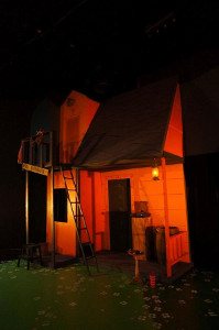 A house is part of the set for Pippi Longstocking in 2012. - , Utah