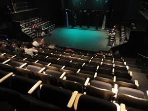 The new auditorium has a main seating section facing the stage, with additional three rows of seating on either side. - , Utah
