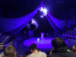 The stage decorated for a magic show in 2015. The side seating sections were closed for this performance. - , Utah