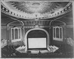 Looking toward the stage from the balcony.  Note the proscenium arch, which was later removed. - , Utah