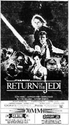 On 17 June 1983, 'Return of the Jedi' returned to the Centre Theatre. - , Utah