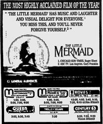 'The Little Mermaid' in 70mm Stereo at Century, after moving over from the Villa Theatre. - , Utah