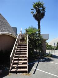 At the Century 23 in San Jose, four exits were cut into the front of the dome, with stairs descending either side of the covered entrance. No such modifications marred the Salt Lake buidings. - , Utah
