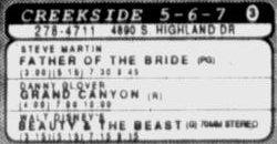 'Beauty & the Beast' in 70mm Stereo at the Creekside 5-6-7, after moving over from the Villa Theatre. - , Utah