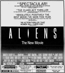 'Aliens' in 70MM 6-Track Dolby Stereo at Crossroads and Century. - , Utah