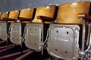 Wood back seats from American Seating Co. - , Utah