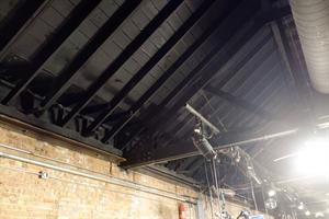 Stage lights hang from the exposed rafters. - , Utah