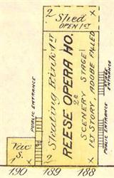The Reese Opera House on an 1885 Sanborn fire insurance map. - , Utah