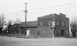 Black and white photo of the Hales Hall about 1941. - , Utah