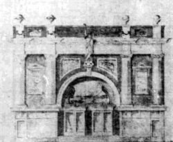 Black and white drawing of the Liberty Theatre. - , Utah