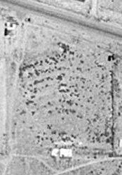 An aerial photo of the River Vu Drive-In site. - , Utah