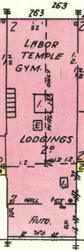 On the 1950 Sanborn map, 263 25th Street was the Labor Temple Gym, with lodging on the second floor. - , Utah