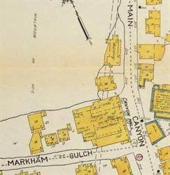 Location of Canyon Hall on a 1913 Sanborn fire insurance map. - , Utah