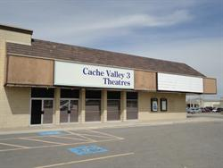 The east exterior wall of the Cache Valley 3 Theatres. - , Utah