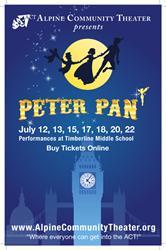 Poster for 'Peter Pan' at Alpine Community Theater in 2013. - , Utah