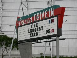 The movie 'The Longest Yard' on the sign of the Basin Drive-In. - , Utah