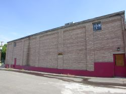 The south exterior wall of the theater. - , Utah