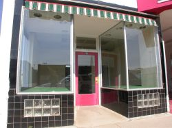 The store front on the south side of the theater entrance. - , Utah