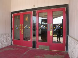 At the back of the entrance are two sets of doors. - , Utah