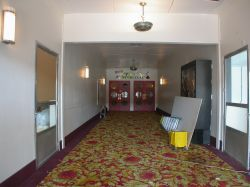 The long hallway back to the auditorium.  On the sides of the hall are doorways into the adjacent shops. - , Utah