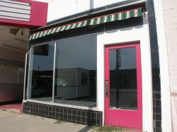The store front on the north side of the theater entrance. - , Utah