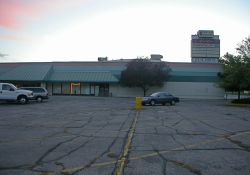 Looking across the parking lot at the Central Square shopping center. - , Utah