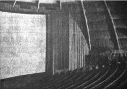 Part of the original screen in Century 21 and the left side auditorium. - , Utah