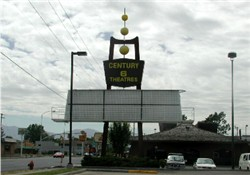 The sign for the Century 22, all that remains of the original domed theaters. - , Utah