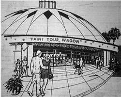 Architect's drawing of the Century 22, from the theater's opening day ad. - , Utah