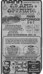 Grand Opening ad for the Mann Cottonwood 5-6-7 theater. - , Utah