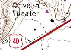 The Echo Drive-In on a geological survey map in 1980. - , Utah