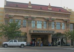The front of Peery's Egyptian Theater in 2004. - , Utah