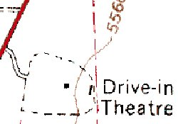 A topographical map from 1966 shows the location of a drive-in movie theater on the outskirts of Ephraim. - , Utah