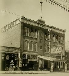 Front facade and west wall of the Grand Theatre. - , Utah